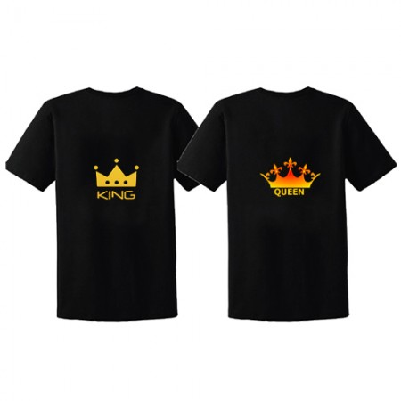 Giftsuncommon - Printed King And Queen Tshirts For Couple